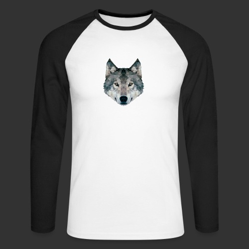 Loup LowPoly - T-shirt baseball manches longues Homme