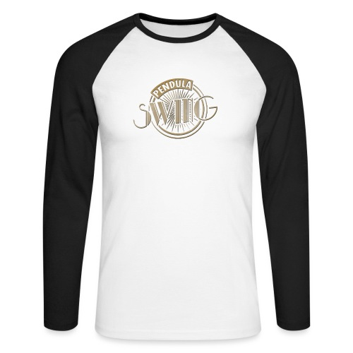 Pendula Swing Logo Gold - Men's Long Sleeve Baseball T-Shirt