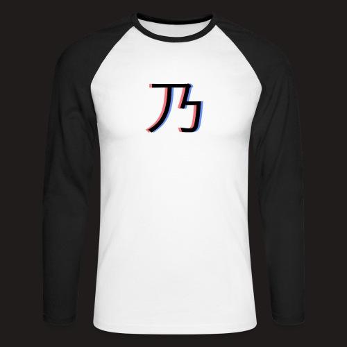 3D Logo - Langærmet herre-baseballshirt