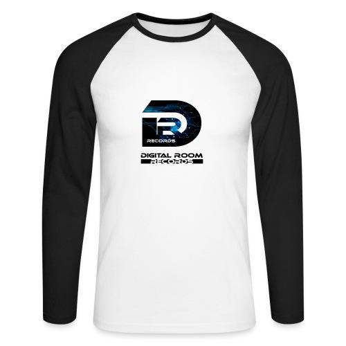 Digital Room Records Official Logo effect - Men's Long Sleeve Baseball T-Shirt