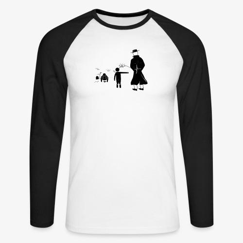 Pissing Man against wrong social action - Männer Baseballshirt langarm