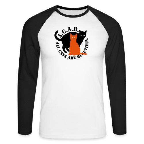 gaticos - Raglán manga larga hombre