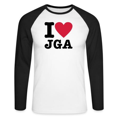 I love JGA - Männer Baseballshirt langarm