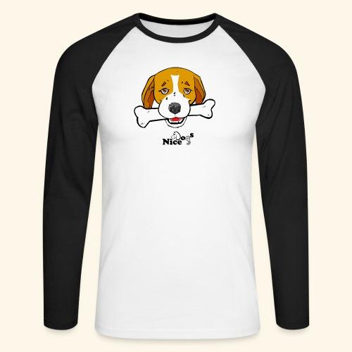Nice Dogs Semolino - Maglia da baseball a manica lunga da uomo