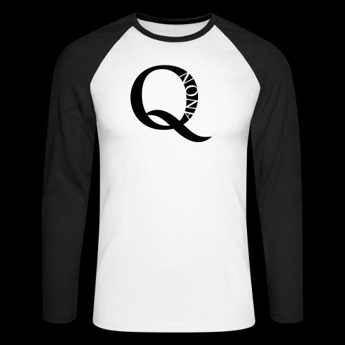Q Anon Q-Anon Original Logo - Männer Baseballshirt langarm