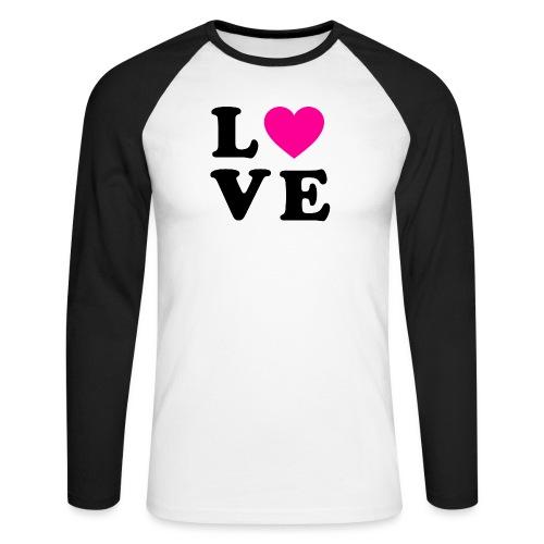 Love t-shirt - T-shirt baseball manches longues Homme