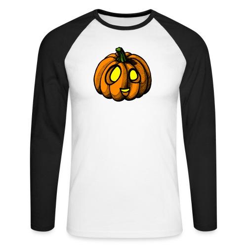 Pumpkin Halloween scribblesirii - Miesten pitkähihainen baseballpaita