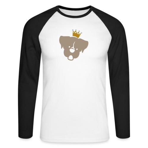 Prinz Poldi braun - Männer Baseballshirt langarm
