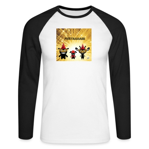 Fiestaaa - T-shirt baseball manches longues Homme
