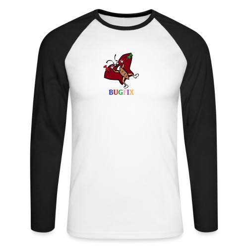 T-Shirt Bugfix für Männer - Männer Baseballshirt langarm