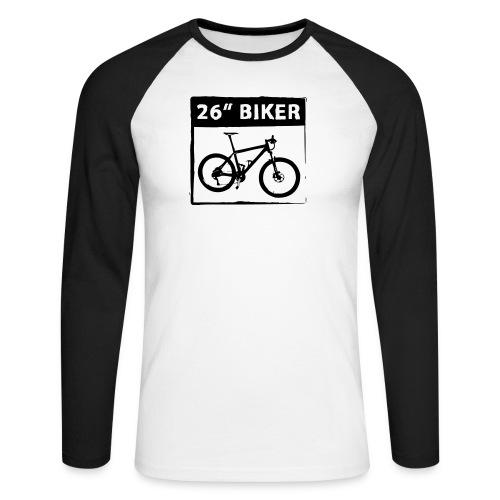 26 Biker - 1 Color - Männer Baseballshirt langarm