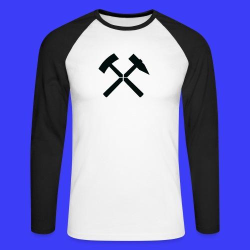 Pałki żelazne - Koszulka męska bejsbolowa z długim rękawem