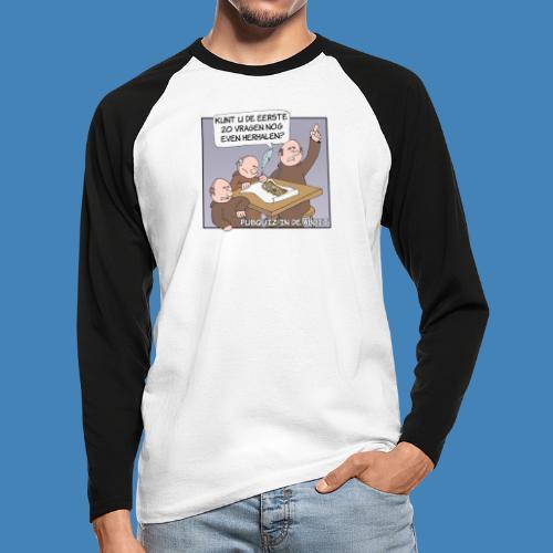 Pubquiz in de Abdij - Mannen baseballshirt lange mouw