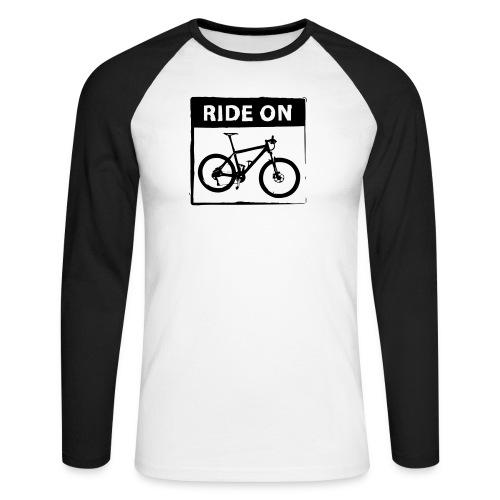 Ride On MTB 1 Color - Männer Baseballshirt langarm