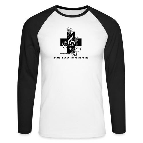 Swiss Beatz Logo with L - Männer Baseballshirt langarm