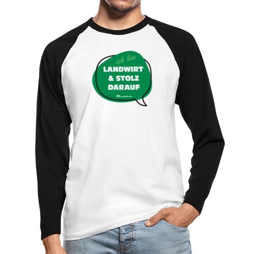 Landwirt und stolz darauf - Männer Baseballshirt langarm