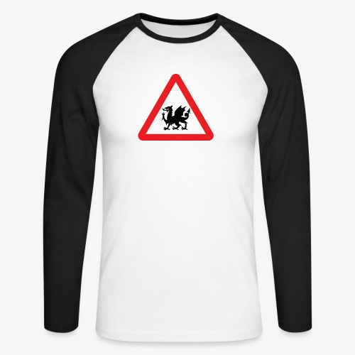 Welsh Dragon - Men's Long Sleeve Baseball T-Shirt