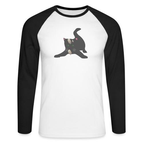 le chat joueur - T-shirt baseball manches longues Homme