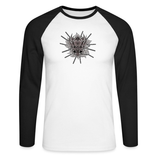 Lotus Of The Samurai - Mannen baseballshirt lange mouw