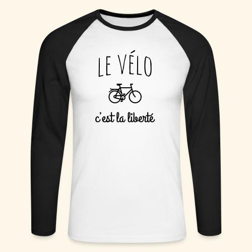 Le vélo c'est la liberté - T-shirt baseball manches longues Homme