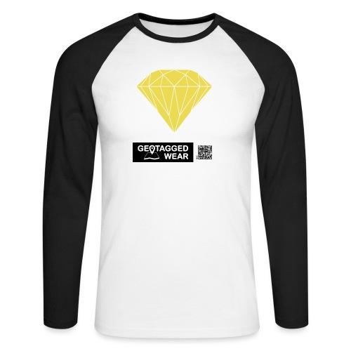 Unisex Diamond Pantone Meadowlark - Männer Baseballshirt langarm
