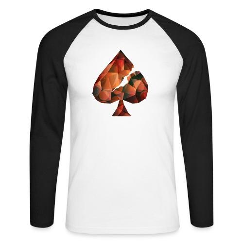 Crystal Spades - Männer Baseballshirt langarm