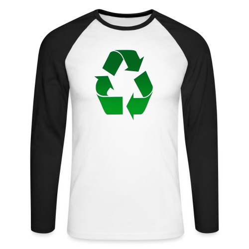 Recyclage - T-shirt baseball manches longues Homme
