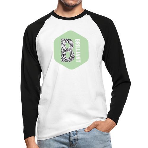 B brilliant green - Mannen baseballshirt lange mouw