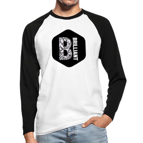 B brilliant black - Mannen baseballshirt lange mouw