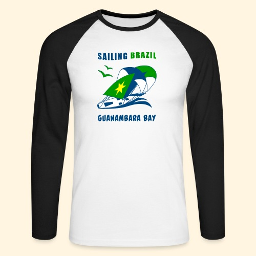 Sailing Brazil - Men's Long Sleeve Baseball T-Shirt