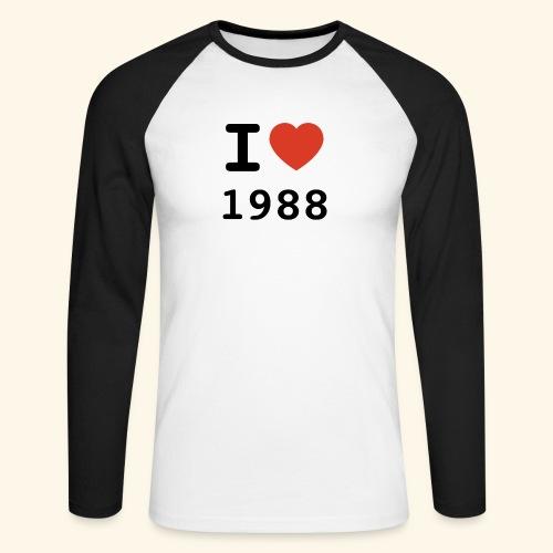 I Love 88 b 001 - Männer Baseballshirt langarm