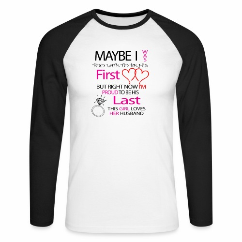 Ich liebe meinen Mann - Geschenkidee - Men's Long Sleeve Baseball T-Shirt