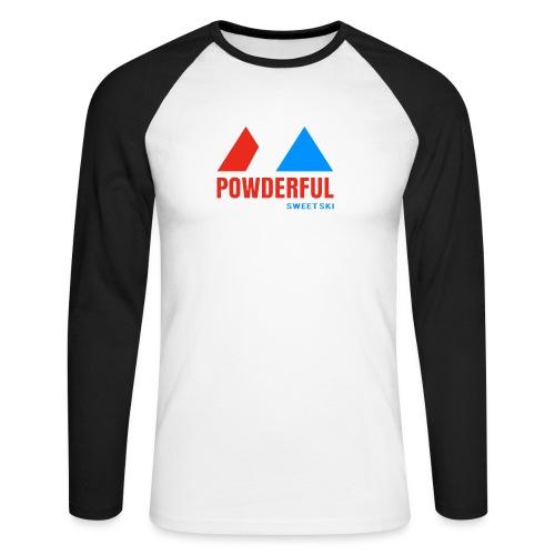 Powderful Sweet Ski - Männer Baseballshirt langarm