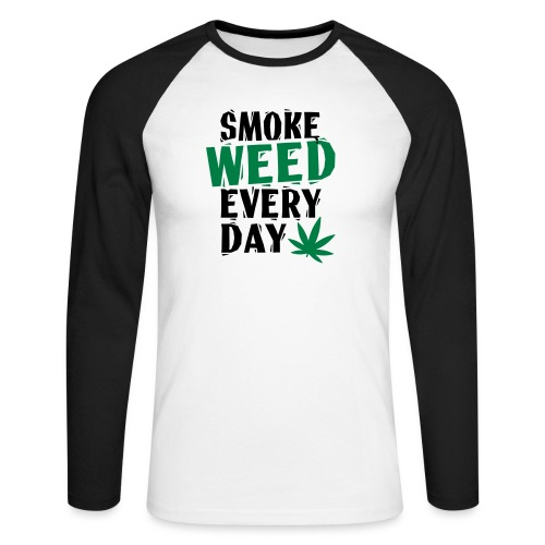 Smoke Weed Everyday Linovert - T-shirt baseball manches longues Homme