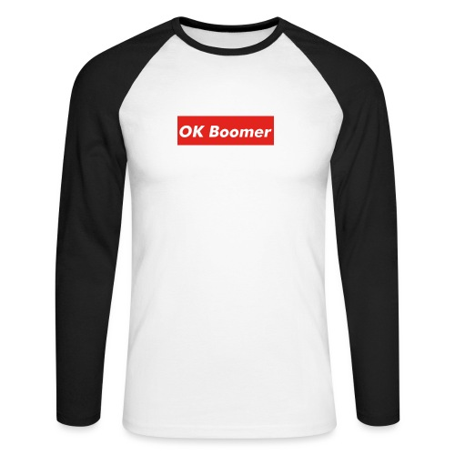 OK Boomer Meme - Men's Long Sleeve Baseball T-Shirt