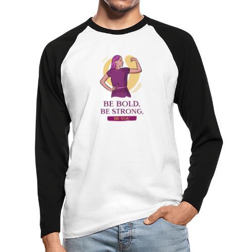 t shirt design generator featuring an empowered - Raglán manga larga hombre