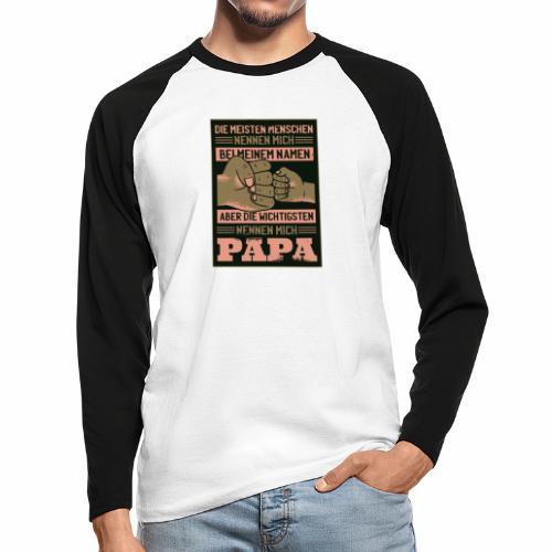 ...die wichtigsten Menschen nennen mich Papa! - Männer Baseballshirt langarm