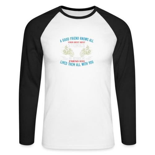 Biker stories. - Men's Long Sleeve Baseball T-Shirt