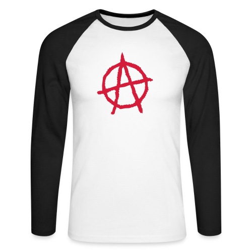 Anarchy Symbol - Men's Long Sleeve Baseball T-Shirt