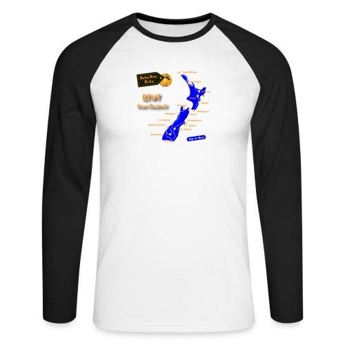 Kiwi-01 - Miesten pitkähihainen baseballpaita