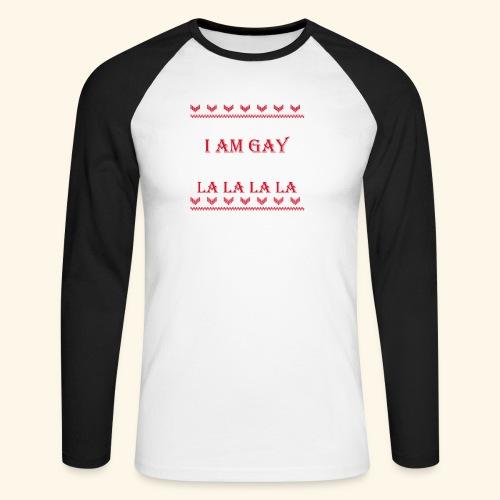 Gay Christmas sweater - Koszulka męska bejsbolowa z długim rękawem