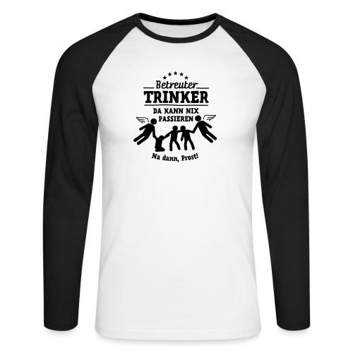betreuter-trinker - Männer Baseballshirt langarm
