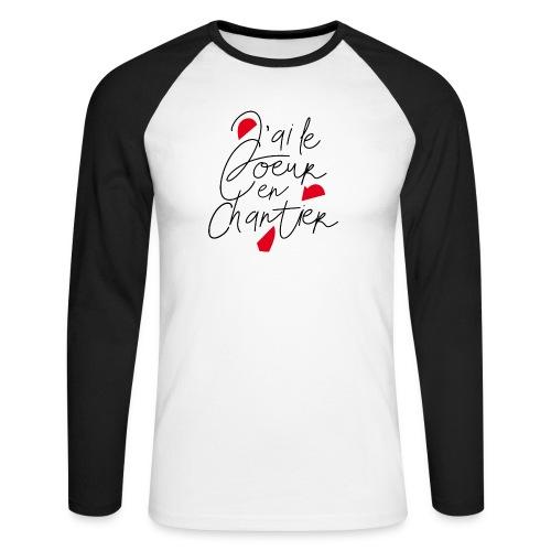 coeur en chantier - T-shirt baseball manches longues Homme