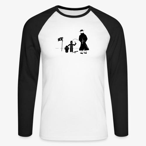 Pissing Man against terrorism - Männer Baseballshirt langarm