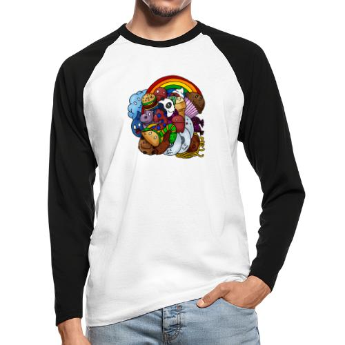 Happy Colors - Männer Baseballshirt langarm