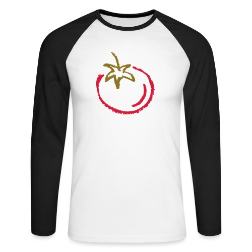 tomato 1000points - Men's Long Sleeve Baseball T-Shirt