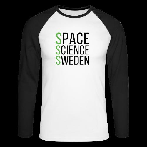 Space Science Sweden - svart - Långärmad basebolltröja herr