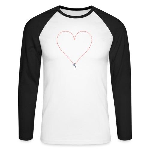 Coeur à découper - T-shirt baseball manches longues Homme