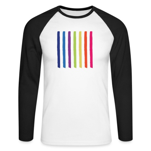 Lines - Men's Long Sleeve Baseball T-Shirt