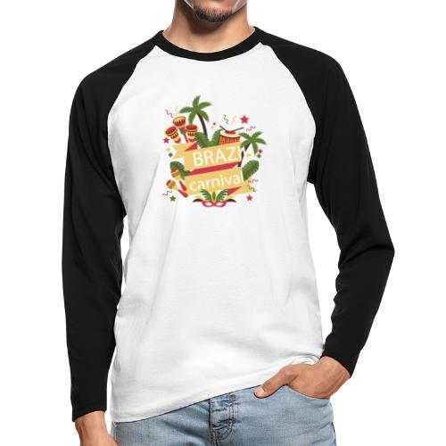 Encontro Brasil Carnival do Rio - Men's Long Sleeve Baseball T-Shirt